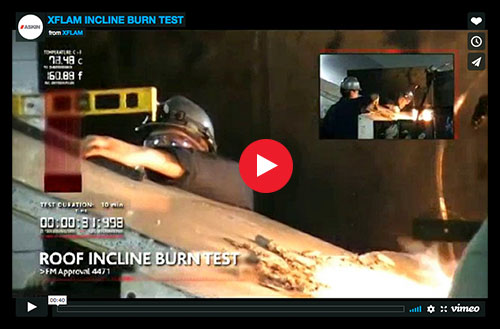 ASKIN - XFLAM performs in incline burn test