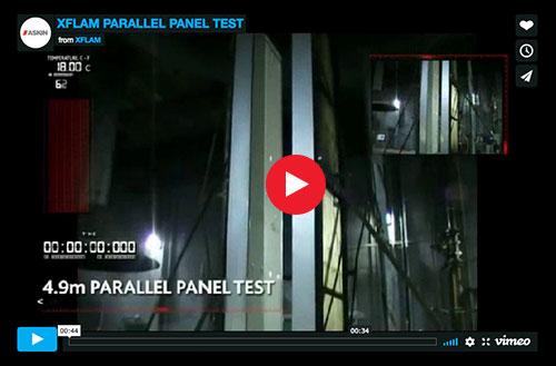 ASKIN - XFLAM parallel panel test