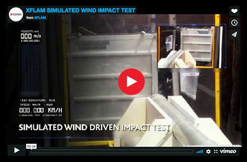 ASKIN - XFLAM performs in wind uplift test