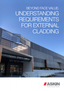 building requirements for external cladding